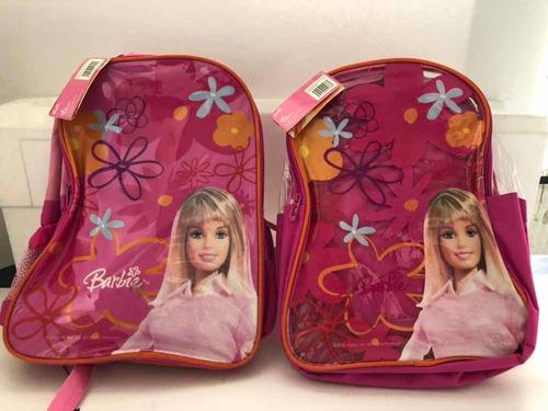 Morral Escolar Grande Barbie Marca Capi Con Cooler