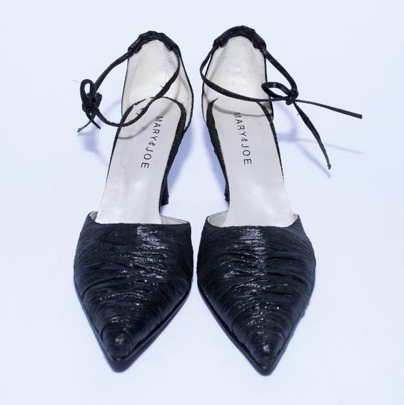 Zapatos De Fiesta Negros - Stilettos De Mujer Mary & Joe