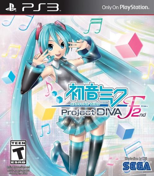 Jogo Hatsune Miku Project Diva F 2nd Ps3 Mídia Física Lacrad