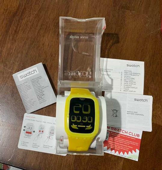 2 Relógios Swatch Touch Amarelo E Roxo Importados Usa
