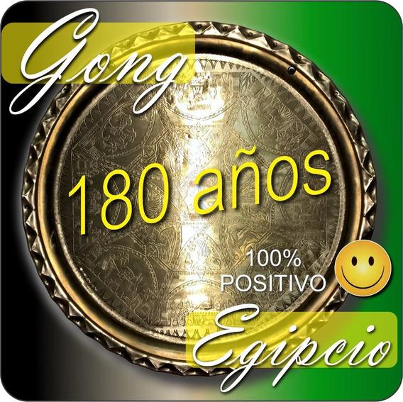 Antiguo Gong Egipcio Bronce 56 Cm Excelente Sonido 180 Años!