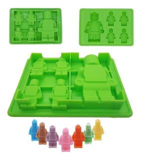 Molde Lego Muñeco M Y Ch Legos Para Hielo Fondant Chocolate