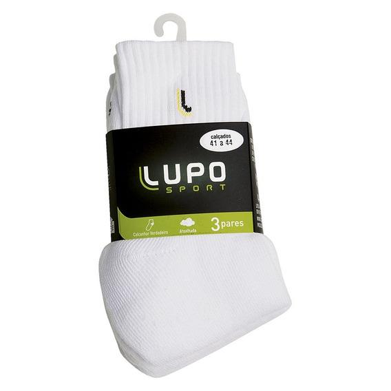 Meia Lupo Am Walk Adulto Cano Médio Kit C/ 3 Unidad Original