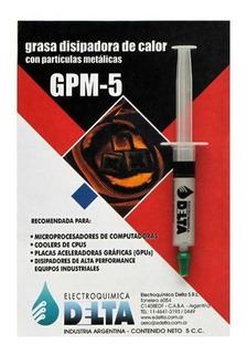 Grasa Disipadora Delta Gpm-5 5cc Con Particulas Metalicas