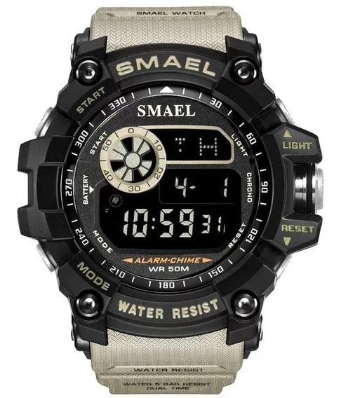 Relógio Smael 8010 Cáqui Original (a Prova D