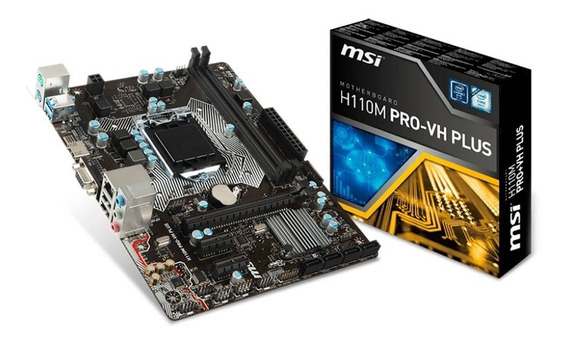 Placa Mãe Msi H110m Pro-vh Plus 1151 Intel Ddr4 H110