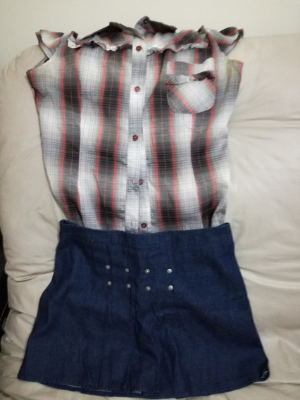 Camisa Sin Mangas Y Mini De Jean! Look Re Canchero!