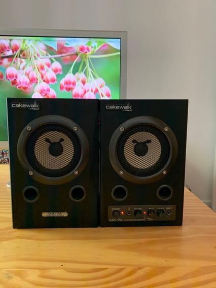 Monitores Edirol/roland Ma-7abk ( Caixa De Som Profissional)