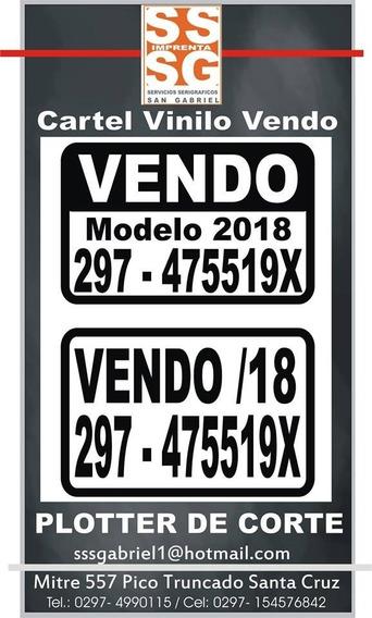 Cartel Se Vende Para Vehículo Color Blanco En Vinilo