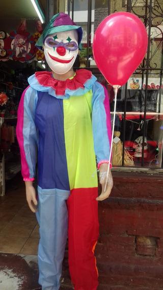 Disfraz Payaso Malvado C/ Mascara Plastica Haloween Adultos