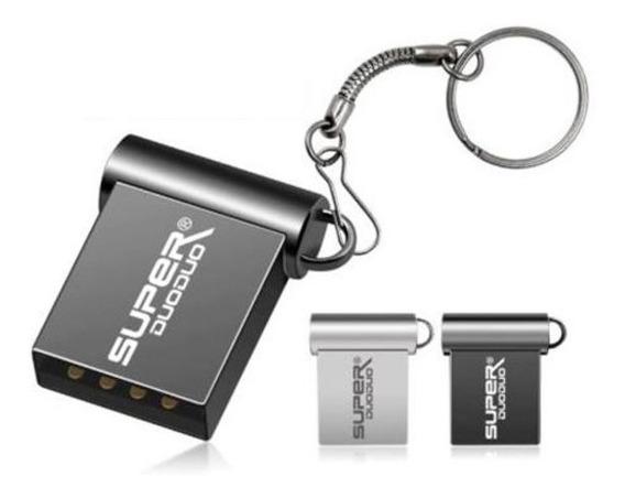 Pen Drive 32gb Mini Em Metal - Pequeno - Grafite / Prata