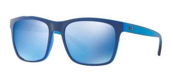 Lentes Armani Exchange Espejados Azules ,originales Nuevos .