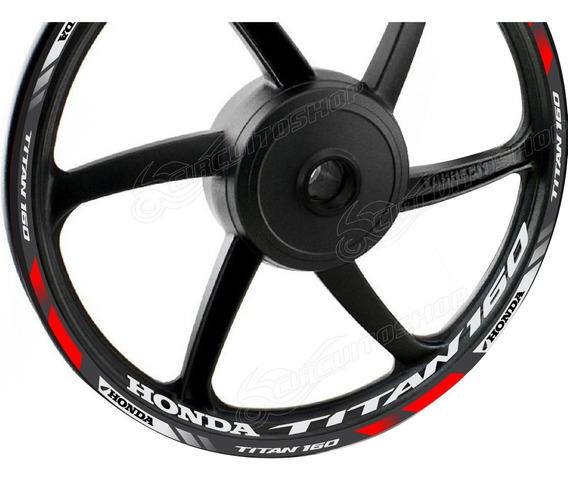 Friso + Adesivo Refletivo D2 Roda Moto Honda Cg Titan 160