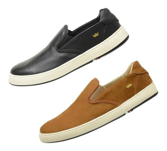 Kit 2 Sapatenis Slip On New Masculino Bossanova 2019