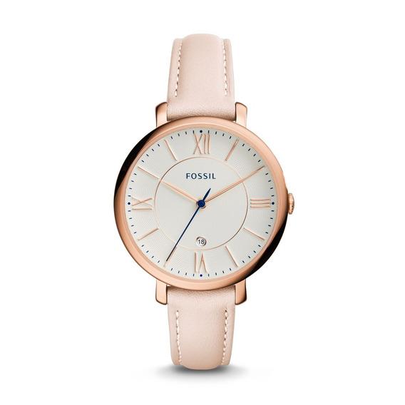 Fossil - Reloj Es3988 Jacqueline Date Blush Leather Para Muj