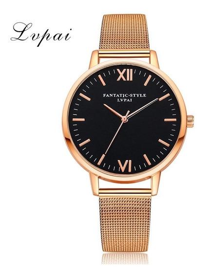 Relógios De Pulso De Mulheres Simple Aço Cinta Ouro