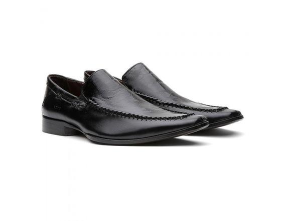 Sapato Social Masculino Couro Preto 460403 - Frete Grátis