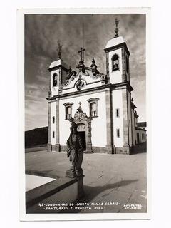Cartao Postal Fotografico Santuario Congonhas Campo Anos 50