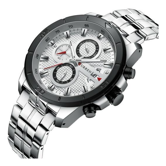 Relógio De Luxo Curren 8337 Original Cronógrafo Modelo 2019