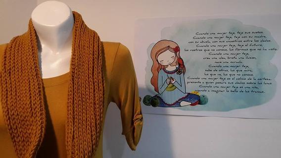 Bufanda Infinita-tejido Crochet-otoño Invierno 2018