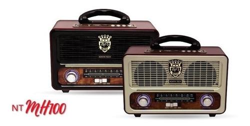Radio Portable Mh100 North Tech Retro