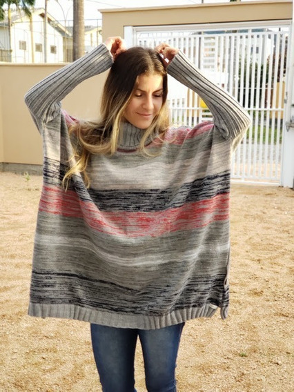 Poncho Marie Tricot