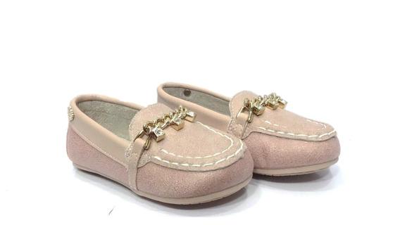 Sapato Infantil Mocassim Klin Nude 005905