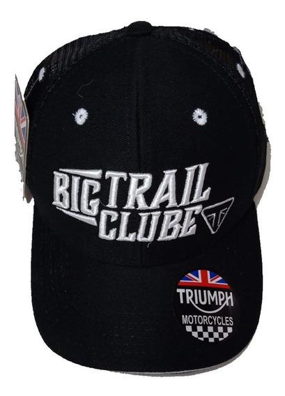 Boné Moto Triumph Big Trail Clube Bordado Ajustável