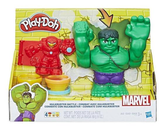 Combate Com O Hulkbuster Massinha Play-doh Marvel - Hasbro E