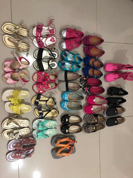 Lote De Sapatos Para Criança Numeração 23 E24