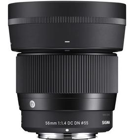Lente Sigma 56mm F/1.4 Dc Dn Sony E-mount Apsc Com Recibo