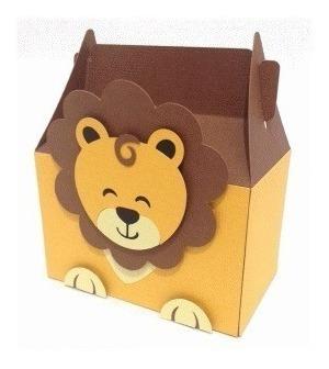 Caixa Box Cute Leão - Arquivo Silhouette