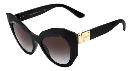 Dolce & Gabbana Dg 6122 - Óculos De Sol 501/8g Preto Brilho/
