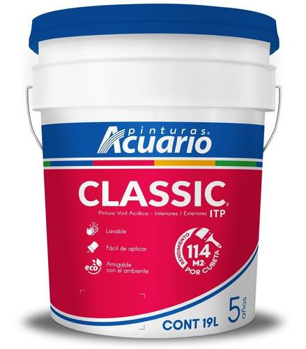 Imagen 1 de 4 de Pintura Vinil Acrílica Itp Classic Cubeta 19l - Color Blanco
