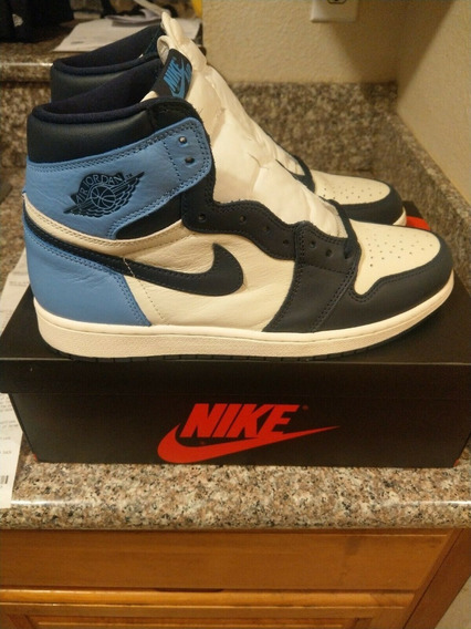 Tenis Nike Air Jordan 1 Obsidian Unc 7us - 38br