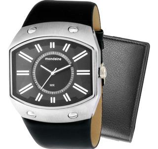 Kit Relógio Mondaine Masculino Com Carteira 76212g0mbnh1k1