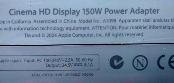 Kit: Apple A1306 + Fonte 150w A1098 Para Monitor Apple 30