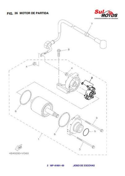 Escovas Motor De Partida Ténéré Lander Fazer 250 Original L
