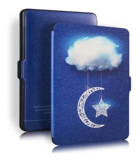 Capa Kindle Paperwhite 1 2 3 Modelo Antigo Luxo Hiberna Nuvem Estrela Lua Céu Proteção Caneta Touch
