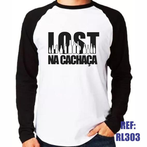 Camisa Raglan Manga Longa Lost Na Cachaça Estilo Swag Thug