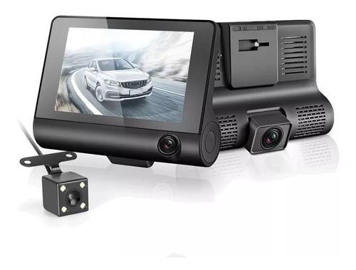 Imagen 1 de 6 de Cámara Para Auto Triple Dashcam 1080p Full Hd - Testigo