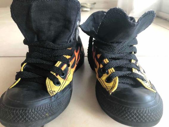 Zapatillas Botitas Niños Converse Talle 34 Casi Sin Usar(137