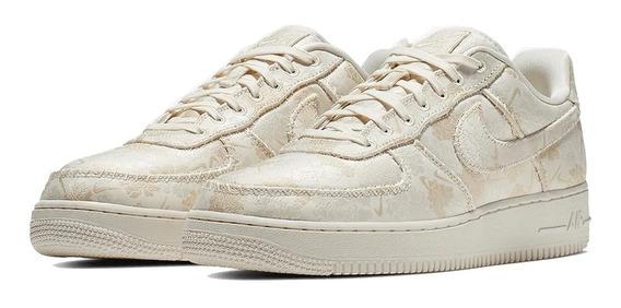 Tênis Nike Air Force 1 Low Satin Floral Pale Ivory