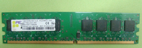Aeneon Aet760ud00-25d 1gb 240p Pc2-6400 Ddr2-800 Dimm