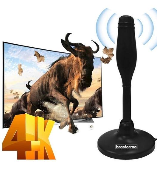 Antena De Tv Digital Hdtv Cabo 5mt Base Com Imã - Brasforma