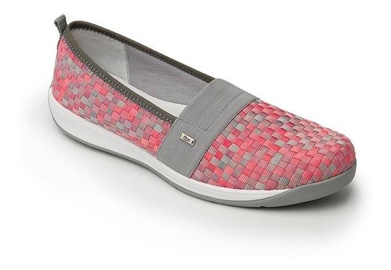 Calzado Dama Mujer Zapato Sneaker Flexi Rosa Casual Cómodo
