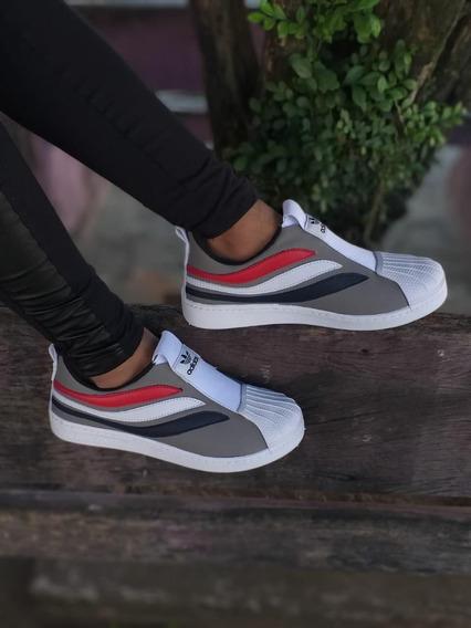 Tenis Sapatenis Feminino Sneaker Strippes Lançamento