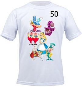Camiseta Infantil Personalizada N°50 Alice País Da Maravilha