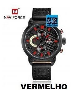 Relógio Naviforce Nf9068 Luxury - Original - Couro Legítimo