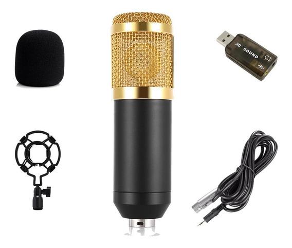 Microfone Bm800 Brinde (placa De Áudio)